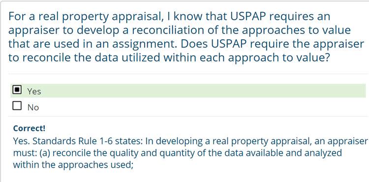 USPAP Practice Exam