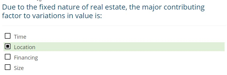 Residential Site Valuation Exam Question 2